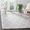 Safavieh Handmade Cambridge Moroccan Silver Indoor Wool Rug (6' x 9')