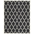 Safavieh Traditional Handmade Cambridge Moroccan Black Wool Rug (6' x 9')