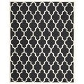 Hand-Tufted Safavieh Handmade Cambridge Moroccan Black Wool Rug (8' x 10')