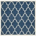 Safavieh Handmade Moroccan Cambridge Navy Wool Area Rug (6' Square)