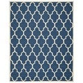 Safavieh Handmade Cambridge Moroccan Contemporary Navy Wool Rug (6' x 9')
