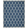 Safavieh Handmade Cambridge Moroccan Geometric-Patterned Navy Wool Rug (8' x 10')