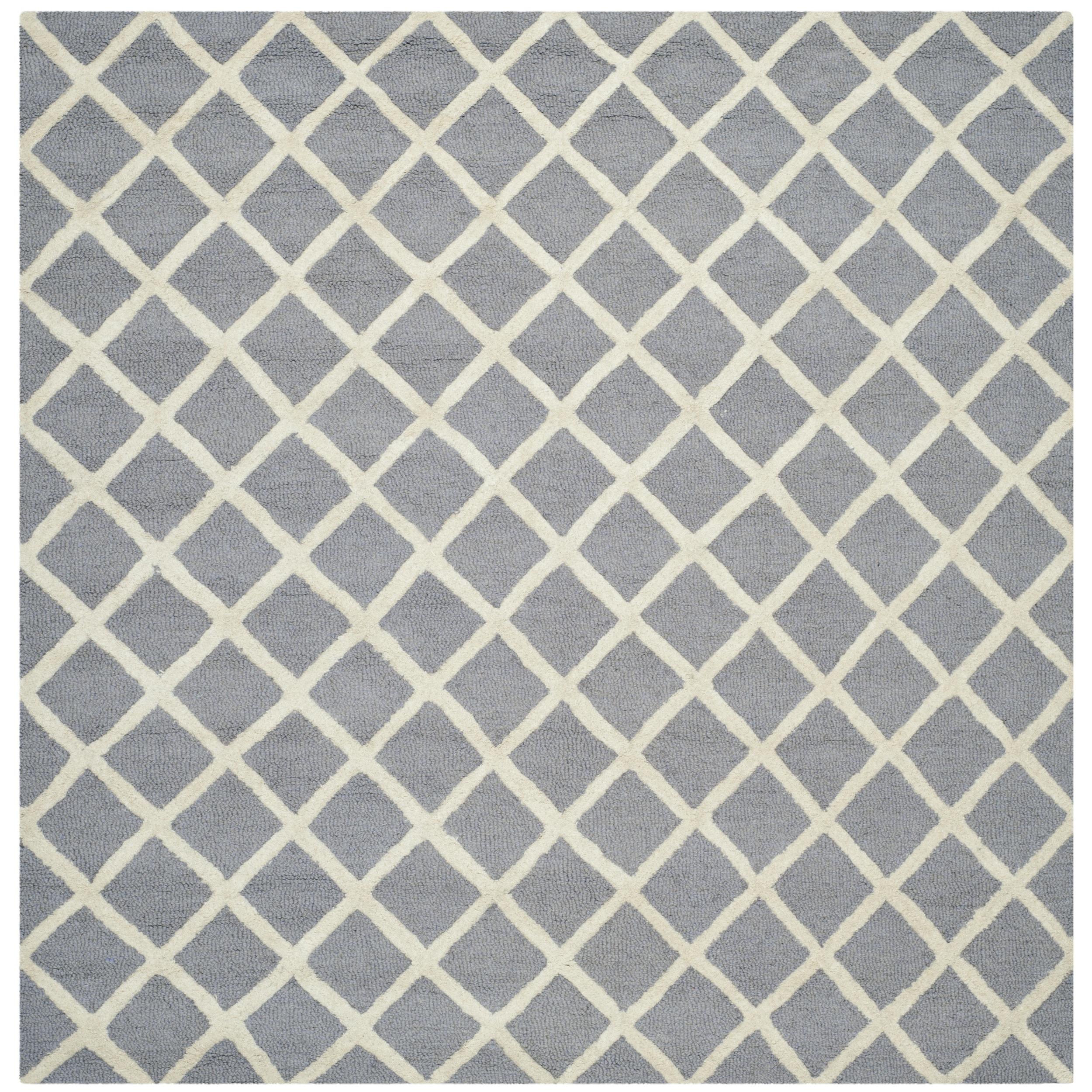 Safavieh Handmade Cambridge Moroccan Silver Small-Square-Pattern Wool Rug (6' Square) at Sears.com