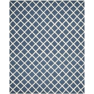 Safavieh Handmade Cambridge Moroccan Crisscross Pattern Navy Wool Rug (6' x 9')