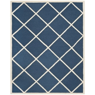 Safavieh Handmade Cambridge Moroccan Diamond Pattern Navy Wool Rug (8' x 10')