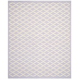 Safavieh Handmade Cambridge Moroccan Lavender Trellis-Patterned Wool Rug (8' x 10')