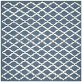 Modern Safavieh Handmade Cambridge Moroccan Navy Wool Rug (6' Square)