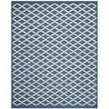 Safavieh Handmade Cambridge Moroccan Casual Navy Wool Rug (6' x 9')