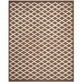 Safavieh Handmade Cambridge Moroccan Dark Brown Indoor Wool Rug (8' x 10')