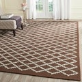 Safavieh Handmade Cambridge Moroccan Dark Brown Wool Rug (8' x 10')