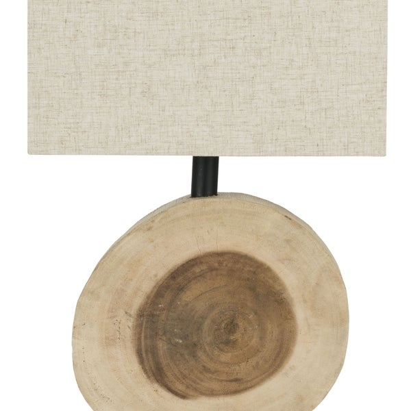 Safavieh Lighting 12.6-inch Forester Natural Wood Lamp