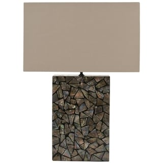 Safavieh Mosaic Brown Mother of Pearl Lamp