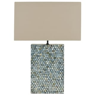Safavieh Cassandra Blue Mother Of Pearl Table Lamp