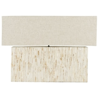 Safavieh Ayers Mother-of-Pearl Tile Lamp with Rectangular Shade