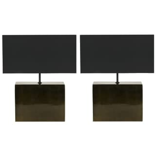 Safavieh Brushstroke Dark Grey Lamps (Set of 2)