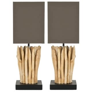 Safavieh Aspen Natural-Wood-Finished Indoor Branch Table Lamps (Set of Two)