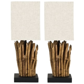 Safavieh Aspen Natural Wood Branch Table Lamps (Set of 2)