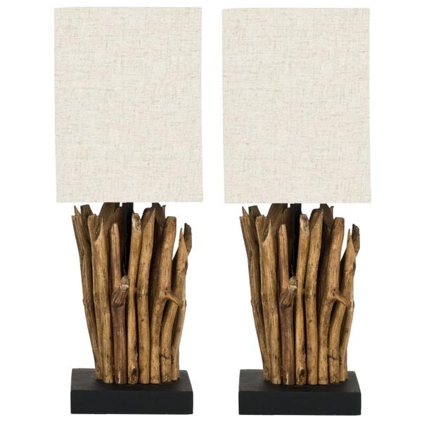 Safavieh Aspen Natural Wood Branch Table Lamps (Set of 2)