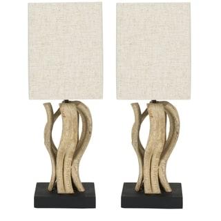 Safavieh Lighting Evangeline Bleached Wood Vine Table Lamps (Set of 2)
