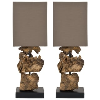 Safavieh Oregon Natural Wood Root Table Lamps (Set of 2)