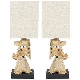 Safavieh Oregon Bleached Wood Root Table Lamps (Set of 2)
