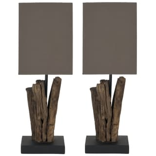 Safavieh Arcadia Natural Wood Branch Table Lamp (Set of 2)