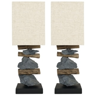 Safavieh Highlander Natural Stone Table Lamps (Set of 2)