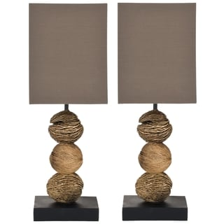 Safavieh Samantha Natural Wood Table Lamps (Set of 2)