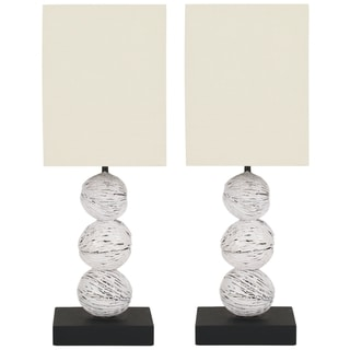 Safavieh Samantha White Washed Wood Table Lamps (Set of 2)