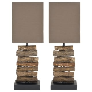Safavieh Woodland Natural Wood Table Lamps (Set of 2)