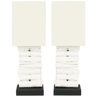 Safavieh Woodland White Washed Wood Table Lamps (Set of 2)