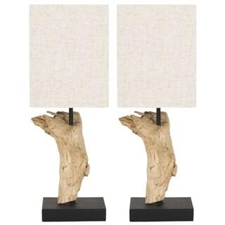 Safavieh Uragon Bleached Wood Root Table Lamps (Set of 2)