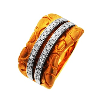 Sonia Bitton 14k Yellow Gold 1/6ct TDW Designer Diamond Ring (G-H, SI1-SI2)