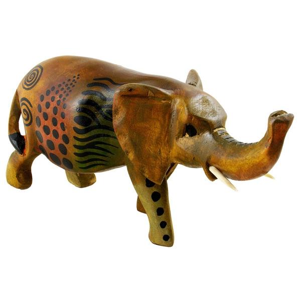 Handmade Safari Elephant Statue (Kenya)