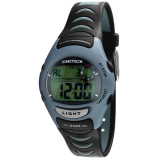 Timetech Men's Silicone Digital Chronograph Watch