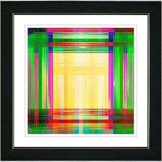 Studio Works Modern 'Malawali Strait - Green' Framed Print
