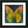 Studio Works Modern 'Citrus Orange Butterfly' Framed Print
