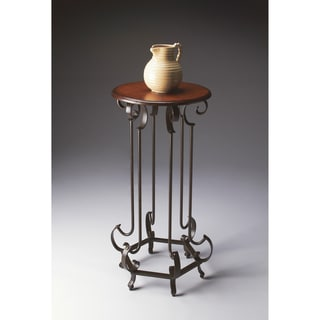 Wood and Metal Pedestal