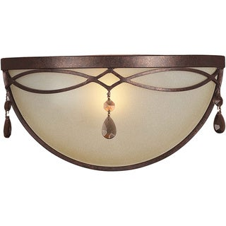 Cambridge 1-light Black Cherry Wall Sconce