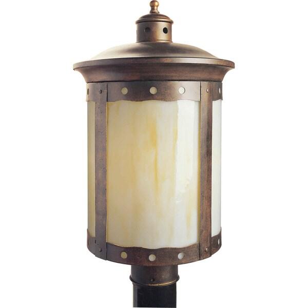 Cambridge 1 Light Rustic Sienna Outdoor Post Light 15316451 Overstock Com Shopping Big Discounts On Other Outdoor Lighting