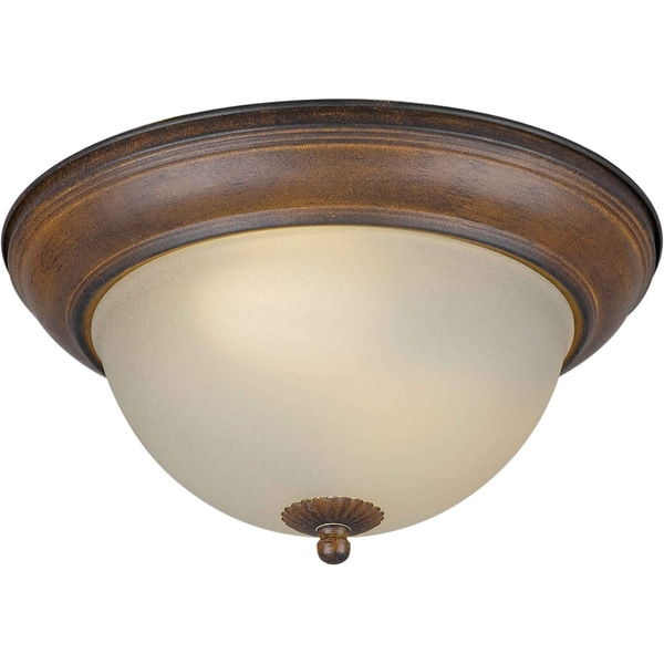 Cambridge 2-light Rustic Sienna Flush Mount