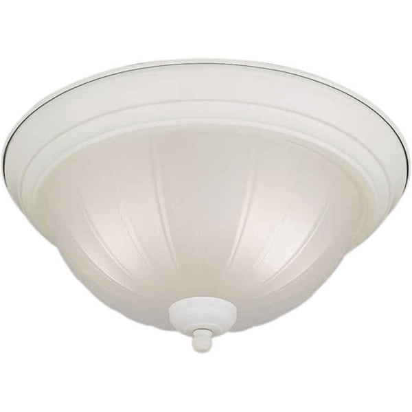 Cambridge 2-light White Flush Mount