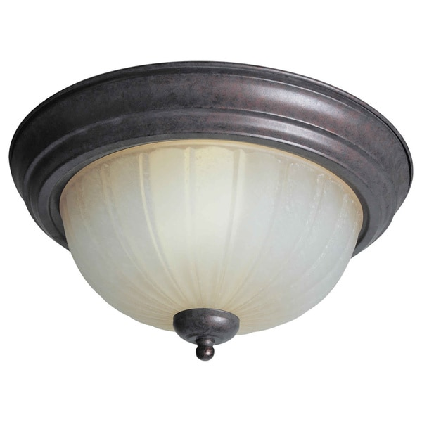 Cambridge 6-inch 2-light Black Cherry Flush Mount