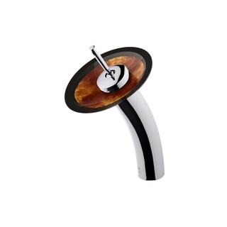 Vigo Single Lever Waterfall Auburn/Mocha Glass Disc Faucet