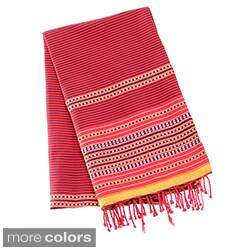 Authentic Fouta Natural Cotton Tribal Striped Bath and Beach Towel (Tunisia)