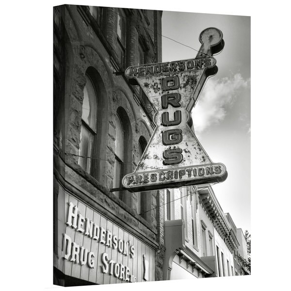 Steve Ainsworth 'Drug Store Sign' Gallery-Wrapped Canvas