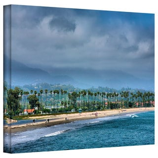 Steve Ainsworth 'The Beach at Santa Barbara' Gallery-Wrapped Canvas