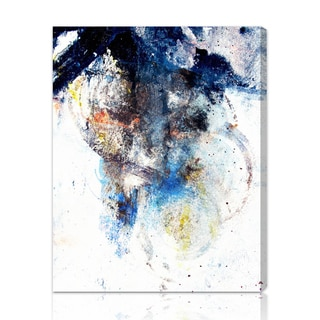Oliver Gal 'Snow Storm' Abstract Wall Art Canvas Print - Blue, White