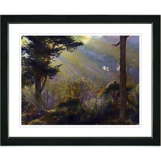 Studio Works Modern 'Forest Sunbeams' Framed Print