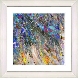 Studio Works Modern 'Palm Tree Euphoria - Blue' Framed Print